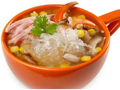 Cách nấu súp yến vi cá càng cua